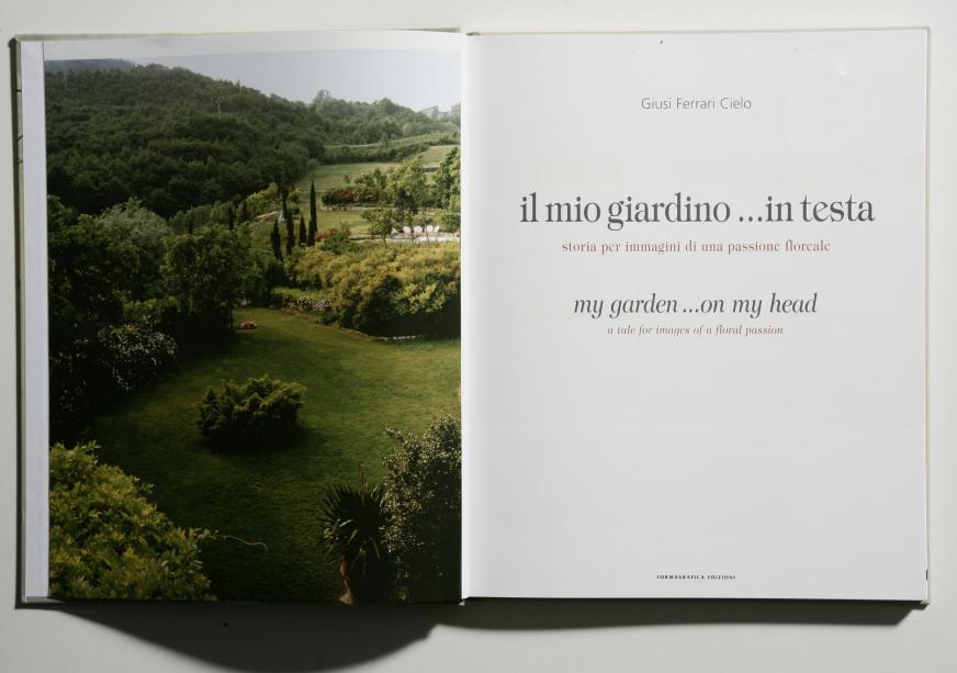Il mio giardino in testa. Giusy Ferrari Cielo - copertina e pagina interna