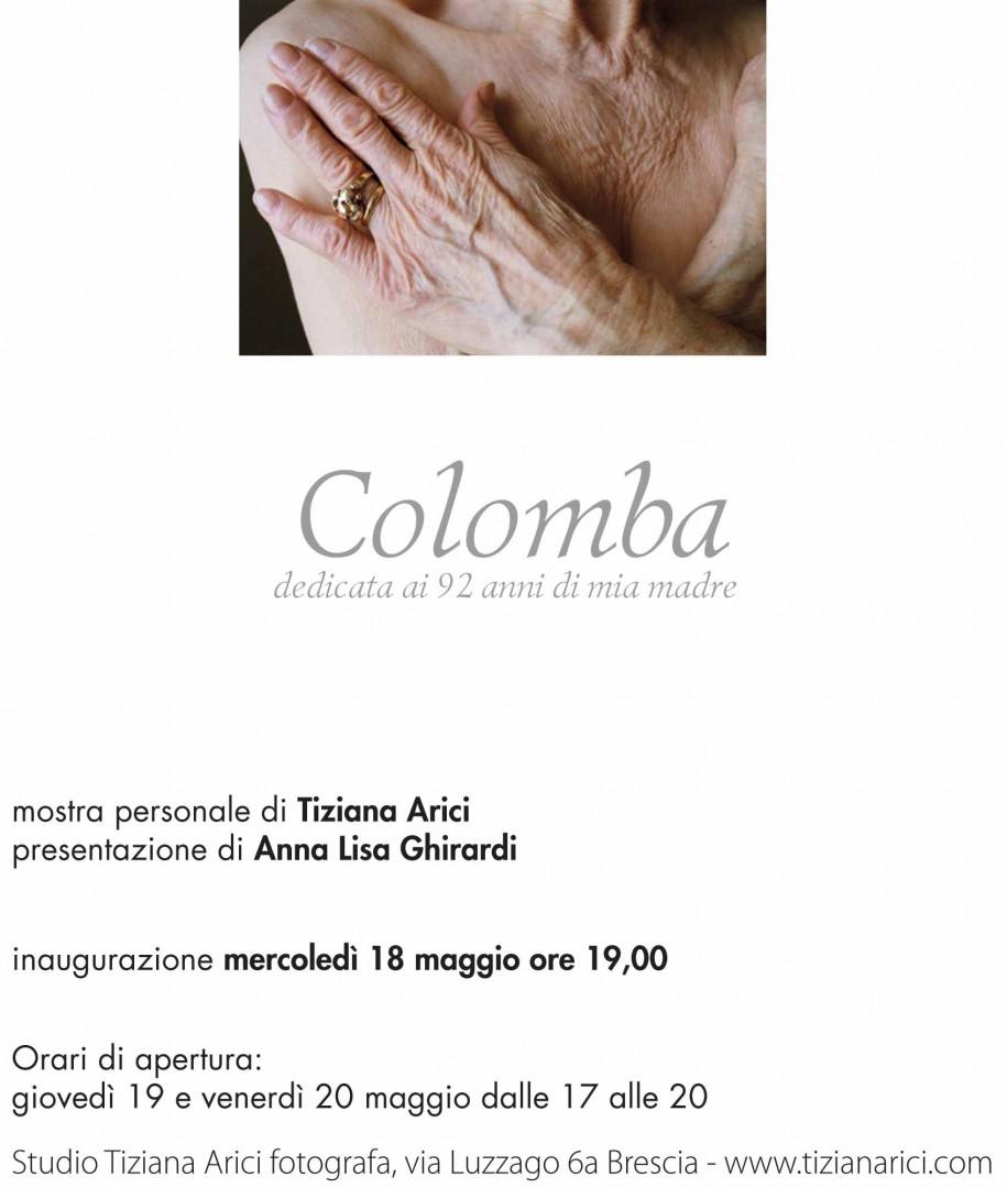 Colomba - Maggio 2012 - invito mostra